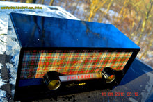 Load image into Gallery viewer, SOLD! - Mar 9, 2016 - SCOTTISH TARTAN Black Retro Vintage 1954 Capehart Model T-54 AM Tube Radio Totally Restored! - [product_type} - Capehart - Retro Radio Farm