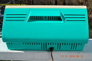 SOLD! - Dec 10. 2017 - SEAFOAM GREEN Twin Speaker Retro Vintage 1959 Philco Model JB46-124 AM Tube Radio Totally Restored! - [product_type} - Philco - Retro Radio Farm