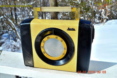 SNAKESKIN Haute Couture Vintage Antique Mid Century 1952 Arvin Model 654P Portable Tube AM Radio Restored and Very Rare! , Vintage Radio - Arvin, Retro Radio Farm  - 4