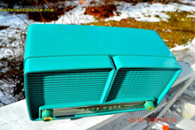 Load image into Gallery viewer, SOLD! - Feb 7, 2016 - BLUETOOTH MP3 READY - Turquoise Retro Mid Century Vintage 1957 RCA Victor Model  8-X-8L AM Tube Radio Sounds Great! - [product_type} - Philco - Retro Radio Farm