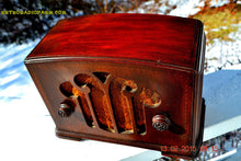 Load image into Gallery viewer, SOLD! - Apr 15, 2016 - BLUETOOTH MP3 READY - Mini Tombstone Wood Art Nouveau Retro 1935 Colonial AM Tube Radio Totally Restored! Wow! - [product_type} - Colonial - Retro Radio Farm