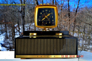 SOLD! - Feb 27, 2016 - SCIENCE FICTION FANTASY 1959 Philco Predicta Model H765-124 Tube AM Clock Radio Works! - [product_type} - Philco - Retro Radio Farm
