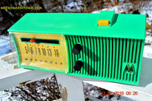 Load image into Gallery viewer, SEA GREEN Mid Century Retro Jetsons 1957 Motorola 56H Tube AM Radio Works! , Vintage Radio - Motorola, Retro Radio Farm  - 8
