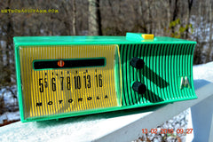 SEA GREEN Mid Century Retro Jetsons 1957 Motorola 56H Tube AM Radio Works! , Vintage Radio - Motorola, Retro Radio Farm  - 4
