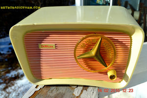 SOLD! - Mar 11, 2016 - SO JETSONS LOOKING Retro Vintage Pink and Black 1959 Travler T-204 AM Tube Radio So Cute! - [product_type} - Travler - Retro Radio Farm