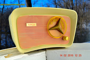 SOLD! - Mar 11, 2016 - SO JETSONS LOOKING Retro Vintage Pink and Black 1959 Travler T-204 AM Tube Radio So Cute! , Vintage Radio - Travler, Retro Radio Farm  - 2