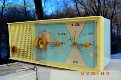 SOLD! - Feb 17, 2016 - BABY BLUE Vintage Antique Mid Century 1961 Arvin Model 5594 Tube AM Clock Radio Restored and Very Rare and Near Mint!! , Vintage Radio - Arvin, Retro Radio Farm  - 2