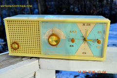 SOLD! - Feb 17, 2016 - BABY BLUE Vintage Antique Mid Century 1961 Arvin Model 5594 Tube AM Clock Radio Restored and Very Rare and Near Mint!! , Vintage Radio - Arvin, Retro Radio Farm  - 3