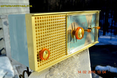 SOLD! - Feb 17, 2016 - BABY BLUE Vintage Antique Mid Century 1961 Arvin Model 5594 Tube AM Clock Radio Restored and Very Rare and Near Mint!! , Vintage Radio - Arvin, Retro Radio Farm  - 4