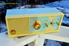 SOLD! - Feb 17, 2016 - BABY BLUE Vintage Antique Mid Century 1961 Arvin Model 5594 Tube AM Clock Radio Restored and Very Rare and Near Mint!! , Vintage Radio - Arvin, Retro Radio Farm  - 6