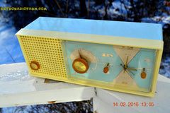 SOLD! - Feb 17, 2016 - BABY BLUE Vintage Antique Mid Century 1961 Arvin Model 5594 Tube AM Clock Radio Restored and Very Rare and Near Mint!! , Vintage Radio - Arvin, Retro Radio Farm  - 8