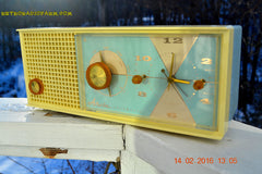 SOLD! - Feb 17, 2016 - BABY BLUE Vintage Antique Mid Century 1961 Arvin Model 5594 Tube AM Clock Radio Restored and Very Rare and Near Mint!! , Vintage Radio - Arvin, Retro Radio Farm  - 7