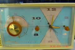 SOLD! - Feb 17, 2016 - BABY BLUE Vintage Antique Mid Century 1961 Arvin Model 5594 Tube AM Clock Radio Restored and Very Rare and Near Mint!! , Vintage Radio - Arvin, Retro Radio Farm  - 9