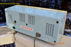 SOLD! - Feb 17, 2016 - BABY BLUE Vintage Antique Mid Century 1961 Arvin Model 5594 Tube AM Clock Radio Restored and Very Rare and Near Mint!! , Vintage Radio - Arvin, Retro Radio Farm  - 12