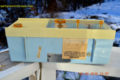 SOLD! - Feb 17, 2016 - BABY BLUE Vintage Antique Mid Century 1961 Arvin Model 5594 Tube AM Clock Radio Restored and Very Rare and Near Mint!! , Vintage Radio - Arvin, Retro Radio Farm  - 10