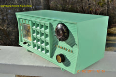 SOLD! - Mar 13,2016 - BLUETOOTH MP3 Ready - Admiral Model 251 955 AM Tube Radio Pistachio Green Retro Jetsons Mid Century Vintage Totally Restored! , Vintage Radio - Admiral, Retro Radio Farm  - 4