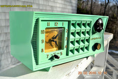 SOLD! - Mar 13,2016 - BLUETOOTH MP3 Ready - Admiral Model 251 955 AM Tube Radio Pistachio Green Retro Jetsons Mid Century Vintage Totally Restored! , Vintage Radio - Admiral, Retro Radio Farm  - 2