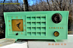 SOLD! - Mar 13,2016 - BLUETOOTH MP3 Ready - Admiral Model 251 955 AM Tube Radio Pistachio Green Retro Jetsons Mid Century Vintage Totally Restored! , Vintage Radio - Admiral, Retro Radio Farm  - 5