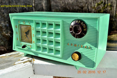 SOLD! - Mar 13,2016 - BLUETOOTH MP3 Ready - Admiral Model 251 955 AM Tube Radio Pistachio Green Retro Jetsons Mid Century Vintage Totally Restored! , Vintage Radio - Admiral, Retro Radio Farm  - 1