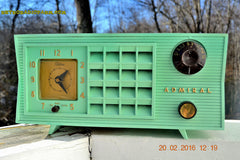 SOLD! - Mar 13,2016 - BLUETOOTH MP3 Ready - Admiral Model 251 955 AM Tube Radio Pistachio Green Retro Jetsons Mid Century Vintage Totally Restored! , Vintage Radio - Admiral, Retro Radio Farm  - 3