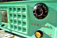 SOLD! - Mar 13,2016 - BLUETOOTH MP3 Ready - Admiral Model 251 955 AM Tube Radio Pistachio Green Retro Jetsons Mid Century Vintage Totally Restored! , Vintage Radio - Admiral, Retro Radio Farm  - 7