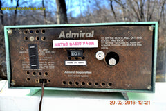 SOLD! - Mar 13,2016 - BLUETOOTH MP3 Ready - Admiral Model 251 955 AM Tube Radio Pistachio Green Retro Jetsons Mid Century Vintage Totally Restored! , Vintage Radio - Admiral, Retro Radio Farm  - 9