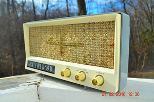 SOLD! -Mar 24, 2016 - BLUETOOTH MP3 READY - Slate Grey Retro Jetsons Vintage 1959 Arvin 2585 AM Tube Radio Immaculate! , Vintage Radio - Arvin, Retro Radio Farm  - 8