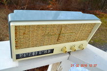 Load image into Gallery viewer, SOLD! -Mar 24, 2016 - BLUETOOTH MP3 READY - Slate Grey Retro Jetsons Vintage 1959 Arvin 2585 AM Tube Radio Immaculate! , Vintage Radio - Arvin, Retro Radio Farm  - 5