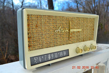 Load image into Gallery viewer, SOLD! -Mar 24, 2016 - BLUETOOTH MP3 READY - Slate Grey Retro Jetsons Vintage 1959 Arvin 2585 AM Tube Radio Immaculate! , Vintage Radio - Arvin, Retro Radio Farm  - 4