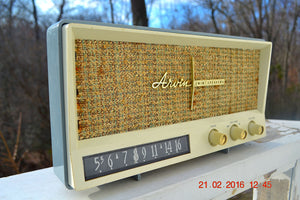 SOLD! -Mar 24, 2016 - BLUETOOTH MP3 READY - Slate Grey Retro Jetsons Vintage 1959 Arvin 2585 AM Tube Radio Immaculate! , Vintage Radio - Arvin, Retro Radio Farm  - 4