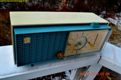 SOLD! - Apr 14, 2016 - SLATE BLUE Mid Century Retro Jetsons 1964 Sylvania Model AK22 Tube AM Clock Radio Totally Restored! , Vintage Radio - Sylvania, Retro Radio Farm  - 7