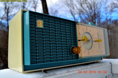 SOLD! - Apr 14, 2016 - SLATE BLUE Mid Century Retro Jetsons 1964 Sylvania Model AK22 Tube AM Clock Radio Totally Restored! , Vintage Radio - Sylvania, Retro Radio Farm  - 5