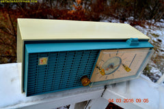 SOLD! - Apr 14, 2016 - SLATE BLUE Mid Century Retro Jetsons 1964 Sylvania Model AK22 Tube AM Clock Radio Totally Restored! , Vintage Radio - Sylvania, Retro Radio Farm  - 9