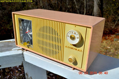SOLD! - Apr 15, 2017 - BLUETOOTH MP3 READY - PINK AND CREAM Two Tone Mid Century Retro Admiral Tube AM Radio  Model Y3037A Works Great!
