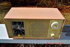SOLD! - Apr 15, 2017 - BLUETOOTH MP3 READY - PINK AND CREAM Two Tone Mid Century Retro Admiral Tube AM Radio  Model Y3037A Works Great! - [product_type} - Admiral - Retro Radio Farm