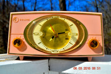 Load image into Gallery viewer, PINK CYCLOPIC Vintage Mid Century Retro Jetsons 1957 Bulova Model 140 Tube AM Clock Radio WORKS! , Vintage Radio - Bulova, Retro Radio Farm  - 4