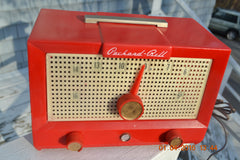 CHERRY BOMB Red Retro Jetsons Vintage 1956 Packard Bell 5R3 AM Tube Radio Works Great! , Vintage Radio - Packard-Bell, Retro Radio Farm  - 5