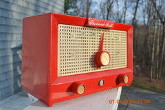 CHERRY BOMB Red Retro Jetsons Vintage 1956 Packard Bell 5R3 AM Tube Radio Works Great! , Vintage Radio - Packard-Bell, Retro Radio Farm  - 6
