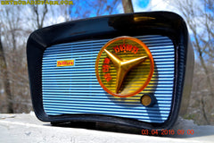 SOLD! - Apr 4, 2016 - BLUETOOTH MP3 READY - SO JETSONS LOOKING Retro Vintage AQUA and BLACK 1959 Travler T-204 AM Tube Radio WORKS! , Vintage Radio - Travler, Retro Radio Farm  - 7