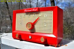 CHERRY BOMB Red Retro Jetsons Vintage 1956 Packard Bell 5R3 AM Tube Radio Works Great! , Vintage Radio - Packard-Bell, Retro Radio Farm  - 9