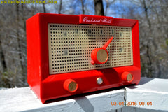CHERRY BOMB Red Retro Jetsons Vintage 1956 Packard Bell 5R3 AM Tube Radio Works Great! , Vintage Radio - Packard-Bell, Retro Radio Farm  - 2