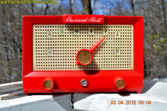 CHERRY BOMB Red Retro Jetsons Vintage 1956 Packard Bell 5R3 AM Tube Radio Works Great! , Vintage Radio - Packard-Bell, Retro Radio Farm  - 3