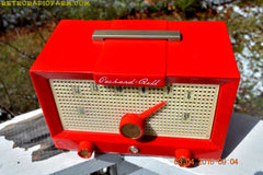 CHERRY BOMB Red Retro Jetsons Vintage 1956 Packard Bell 5R3 AM Tube Radio Works Great! , Vintage Radio - Packard-Bell, Retro Radio Farm  - 8
