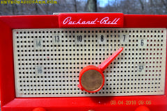 CHERRY BOMB Red Retro Jetsons Vintage 1956 Packard Bell 5R3 AM Tube Radio Works Great! , Vintage Radio - Packard-Bell, Retro Radio Farm  - 11