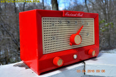 CHERRY BOMB Red Retro Jetsons Vintage 1956 Packard Bell 5R3 AM Tube Radio Works Great! , Vintage Radio - Packard-Bell, Retro Radio Farm  - 7