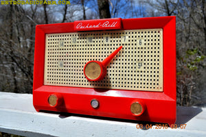 SOLD! - Feb 8, 2017 - CHERRY Red Retro Jetsons Vintage 1956 Packard Bell 5R3 AM Tube Radio Works Great! - [product_type} - Packard-Bell - Retro Radio Farm