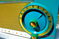 RETROGASM TURQUOISE AND WHITE Retro Jetsons 1956 Admiral Model 5T36 Tube AM Radio Totally Restored! , Vintage Radio - Admiral, Retro Radio Farm  - 10
