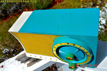Load image into Gallery viewer, SOLD! - July 19, 2016 -RETROGASM TURQUOISE AND WHITE Retro Jetsons 1956 Admiral Model 5T36 Tube AM Radio Totally Restored! - [product_type} - Admiral - Retro Radio Farm