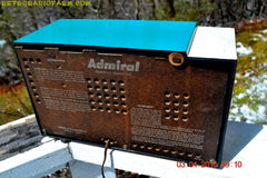RETROGASM TURQUOISE AND WHITE Retro Jetsons 1956 Admiral Model 5T36 Tube AM Radio Totally Restored! , Vintage Radio - Admiral, Retro Radio Farm  - 12