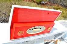 Load image into Gallery viewer, SOLD! - Jan. 10, 2018 - RED AND WHITE Retro Jetsons Vintage 1957 RCA Victor Model 1-X-3B AM Tube Radio Stunning! - [product_type} - RCA Victor - Retro Radio Farm